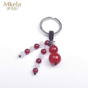 梦克拉 925银红玛瑙葫芦挂件 一路平安 汽车钥匙扣 可礼品卡购买