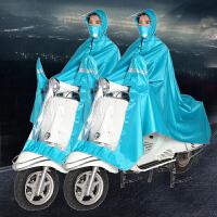 电动车雨衣雨披摩托车雨衣面罩式电动车雨衣雨披单人雨衣