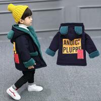 男童冬装外套1-2-3岁冬 男宝宝潮衣加绒加厚儿童棉袄冬季4棉衣服5