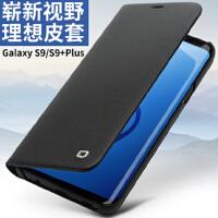 包邮支持礼品卡 三星 galaxy s9 手机壳 真皮 翻盖 带支架 s9+ plus 手机 保护皮套