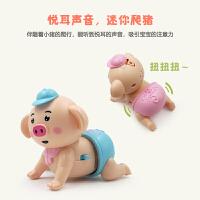 电动爬行海草猪音乐益智爬行小猪宝宝婴幼儿学爬玩具礼物