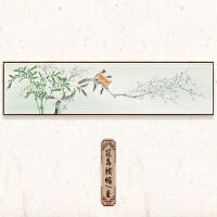 新中式装饰画花卉客厅挂画卧室餐厅书房茶室背景国画中国风壁画SN4451 50*160cm 独立