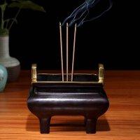 佛具佛教用品铜香炉纯铜宣德炉仿古大明香薰炉佛堂佛前供香炉 四方仿古炉