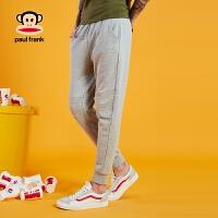 [商场同款]Paul Frank/大嘴猴18春夏新品男女纯色小脚运动裤长裤