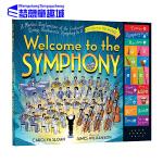 发声书 英文原版 Welcome to the Symphony 主题音乐乐器 交响乐团 儿童趣味认知晚安故事书