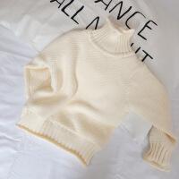宝宝女宝打底毛衣针织衫儿童套头加厚加绒高领男童女童秋冬男宝潮