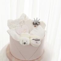 初生婴儿衣服0-3个月棉衣套装新生儿礼盒满月服礼物百日宝宝用品