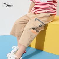 【3折券后价:71.9元】迪士尼童装男童裤子儿童工装裤休闲裤2021新款潮帅气时髦裤子韩版