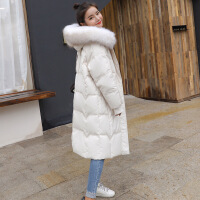 羽绒服女2018冬季新款韩版中长款大毛领宽松时尚学生过膝加厚外套