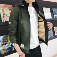 牛仔外套男春秋夹克男青少年学生韩版外套男学生日系复古上衣加绒 加绒