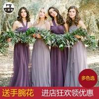 姐妹团伴娘服长款姐妹裙姊妹装大码显瘦短款小礼服晚礼服连衣裙