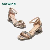 女士凉鞋一字扣带露趾凉鞋H56W9218