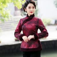 中国风女装秋冬季唐装加厚改良汉服中年妈妈装夹棉衣保暖旗袍上衣 7773花色
