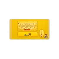 无线键盘鼠标套装可爱便携机械四件套家用