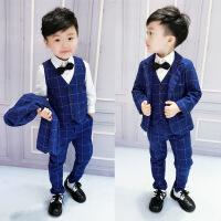 儿童男童西装套装新款韩版春装英伦男三件套幼儿西服宝宝礼服