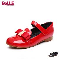 【159元2双】百丽童鞋儿童单鞋皮鞋2017新款中童学生鞋女童休闲鞋DE0296