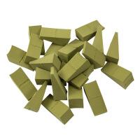 优家(UPLUS)干湿两用三角形粉扑24个装 抹茶绿(化妆海绵 定妆粉扑 三角海绵 BB霜粉底粉扑)
