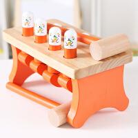 益智敲击玩具1-2-3岁宝宝小锤子打地鼠敲打儿童颜色认知