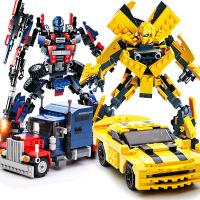 古迪积木拼装玩具男孩益智力模型变形机器人金刚拼插6-12岁