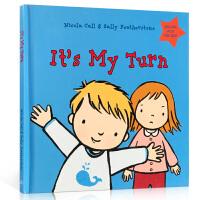 英文原版 It's My Turn 儿童情绪控制管理 0-3-6岁幼儿园宝宝入学准备英语启蒙绘本 经典故事图画书 早教