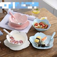 创意日式樱花陶瓷餐具可爱餐盘西餐盘子牛排盘家用早餐水果甜品盘