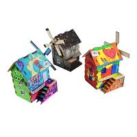小房子diy迷你手工玩具屋竞赛器材 缤纷童年涂装木屋模型