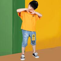 木木屋儿童套装2021夏季新款男童帅气可爱中大童短裤短袖两件套