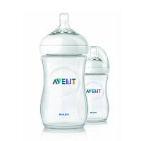 【260ml 2只装】 美国直邮 Avent新安怡 自然系列 聚丙烯奶瓶 9oz 2个装 海外购