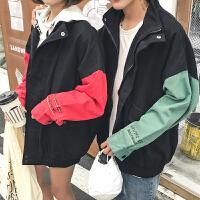 新款原宿秋季外套男士衣服棒球服韩版夹克潮流情侣装秋装上衣学生