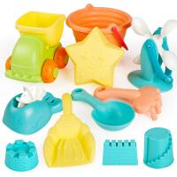 工具决明子宝宝洗澡玩具 软胶儿童沙滩玩具套装玩沙子挖沙漏铲子