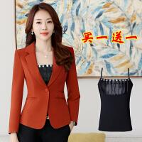 春秋韩版新款修身小西装女士外套短款西服长袖气质休闲一粒扣上衣