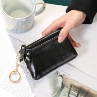 零钱包女短款时尚真皮小包韩版可爱新款双拉链牛皮男女士钱夹卡包