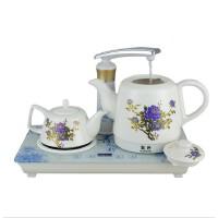 凯轩 自动上水电热水壶 陶瓷抽水加水烧茶炉保温泡茶套装礼品茶具自动上水电热水壶套装