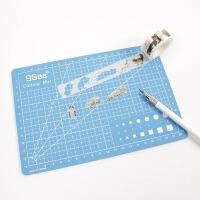 九洋笔刀美工刻刀切割板手帐和纸胶带橡皮章手工剪纸垫板套装