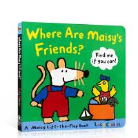 英文原版 儿童绘本 Where Are Maisy's Friends 小鼠波波 儿童纸板翻翻书 边玩边学 儿童启蒙学