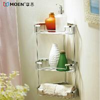 MOEN/摩恩 卫浴置物架 全铜 浴室置物架 卫生间置物架 三层 90010