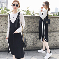 潮妈韩版秋季孕妇装秋装上衣套装连衣裙两件套女装2018新款