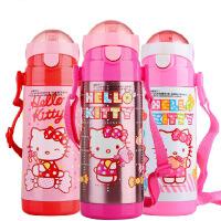 包邮 hello kitty 保温杯 儿童保温吸管水壶杯子 380ML学生水杯3610 二色可选 粉红 白色