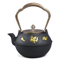 铁壶铸铁手工无涂层炭炉酒精炉电陶炉礼品茶具铸铁壶无涂层 铁茶壶日本南部生铁壶茶具烧水煮茶