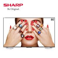 夏普(SHARP) LCD-80X818A 80英寸超清4K智能网络上网平板液晶电视机