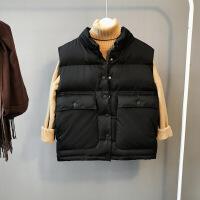 ZAH正品马甲女士外套短款2017秋冬季新款韩版潮宽松百搭学生面包羽绒棉棉衣外套
