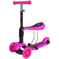 脉驰 四合一三合一轮三轮滑板车可坐滑滑摇摆2岁3岁46岁婴儿的宝宝小孩儿童闪光滑板车