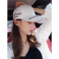 鸭舌帽子女夏天学生街头休闲百搭潮白色太阳帽遮阳棒球帽