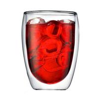 双层玻璃杯隔热透明蛋形茶杯创意水杯耐热咖啡杯果汁饮料杯子350ml玻璃杯花茶杯茶杯水杯