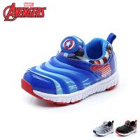 迪士尼(Disney)18新款毛毛虫儿童鞋男童漫威儿童运动鞋四季织布内里儿童休闲鞋 (5-10岁可选) VA4045