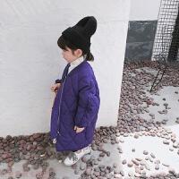 冬季女童中�L款����棉衣2018新款�n版�和�冬�b棉�\洋��A棉外套厚秋冬新款