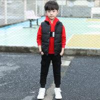 童装男童秋冬装套装2019新款儿童冬季男孩加绒加厚洋气卫衣三件套