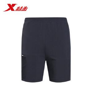 特步男子短裤年舒适轻薄透气吸汗运动休闲男款梭织短裤883229679009