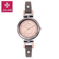 聚利时Julius)新品时尚简约女士石英手表环保皮表带大数字显示
