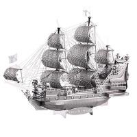 海盗船拼装模型玩具儿童 拼酷3D立体拼图龟船帆船黑珍珠号